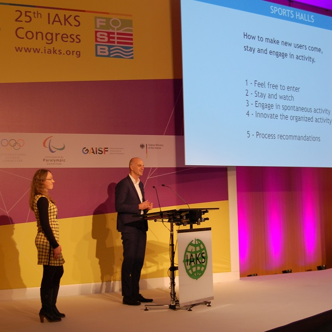 2017 IAKS congress - Keinicke and Overgaard presenting