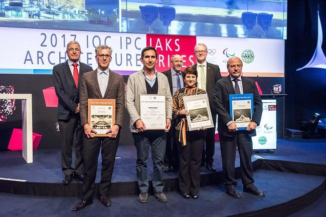 2017 IOC IPC IAKS architecture prizes_winners with two projects.jpg
