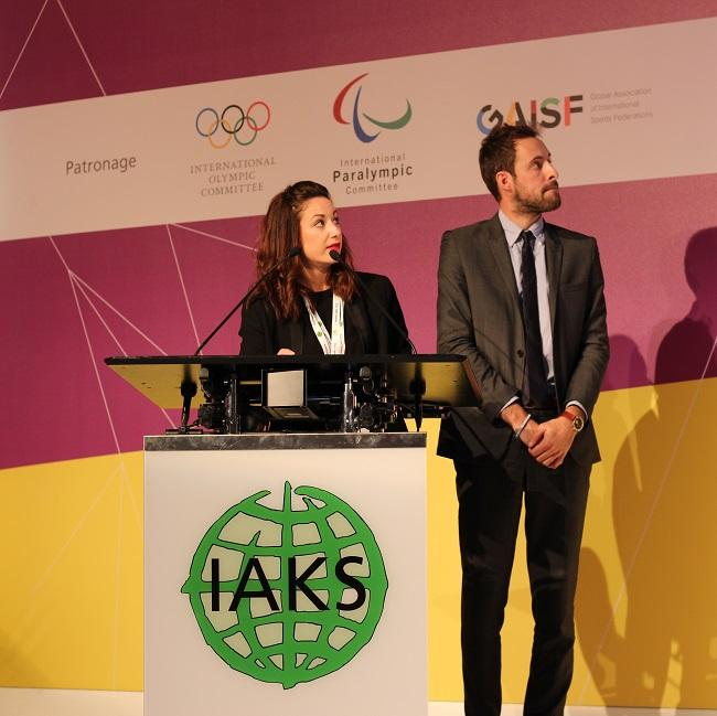 2917 IAKS congress - Stephanie Commandeur and Manuel Laborie presenting