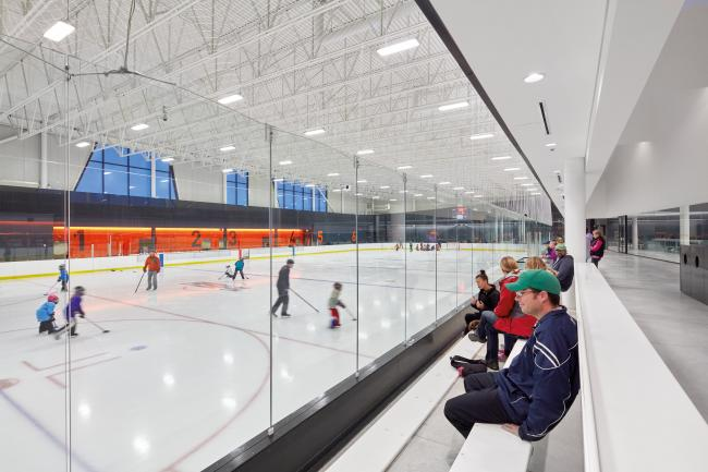 Great Plains Recreation Facility for ice sport in Calgary by MJMA